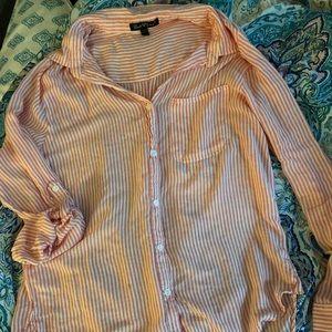 Women's size Large Velvet Heart Button Up Shirt